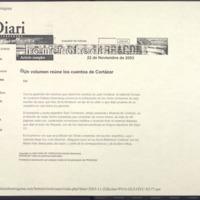 Un volumen reúne los cuentos de Cortázar