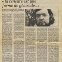 """Cortázar: """"la censure est une forme de génocide..."""""""