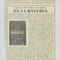 Novela en Dos Ciudades y un Laberinto en la Rayuela